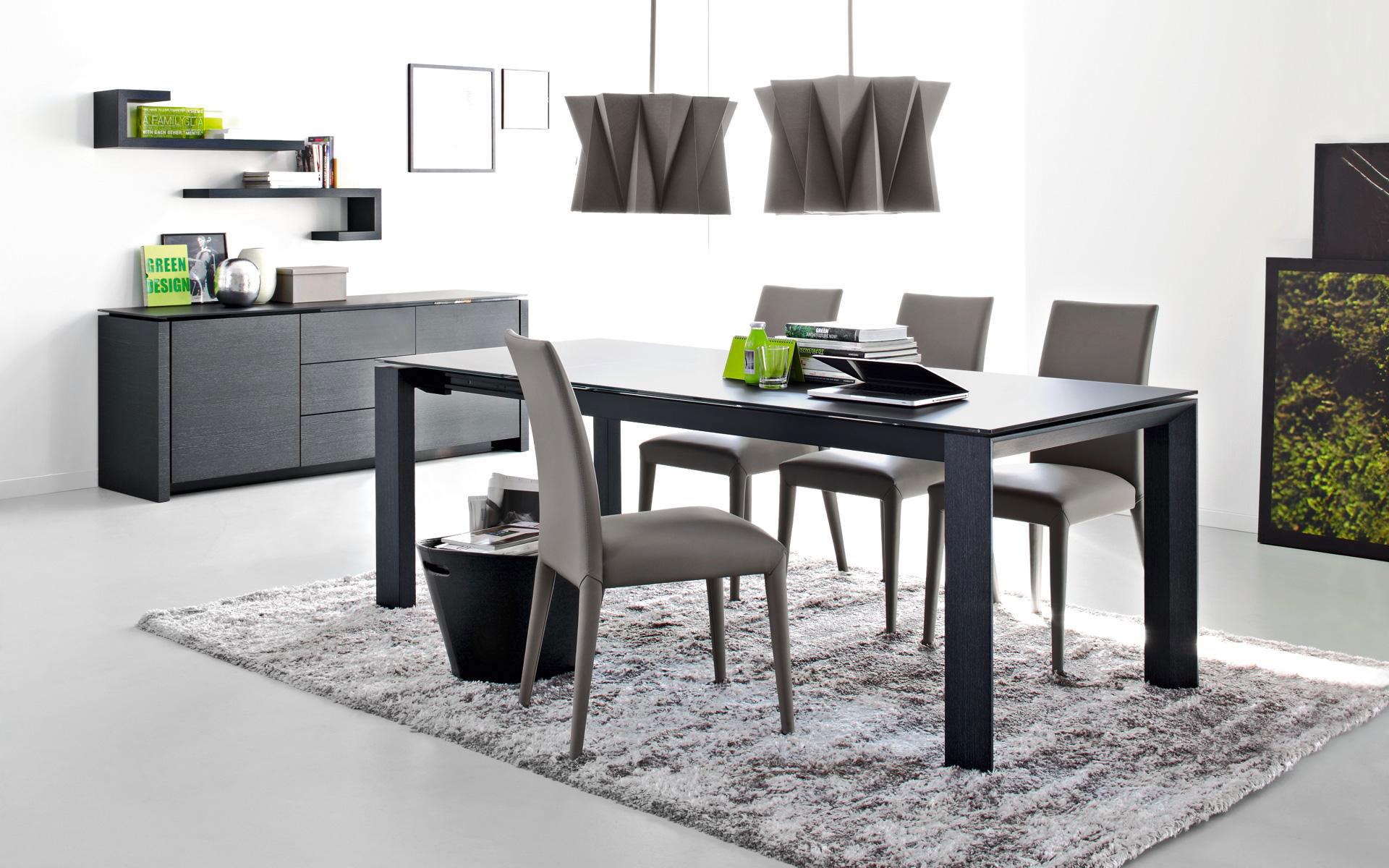 Tavolo moderno soggiorno stunning tavoli e sedie for Produttori tavoli allungabili